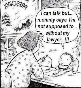 toddler keeps mum on legal advice