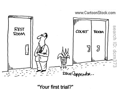 lawyer's first trial