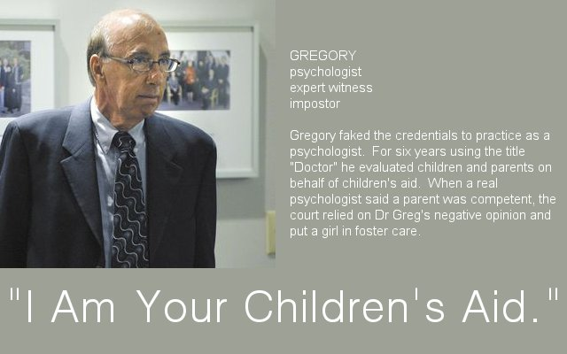I Am Your Children's Aid, Gregory